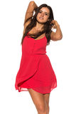 Vestido rojo brillante Fotos de archivo