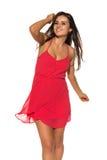Vestido rojo brillante Fotografía de archivo libre de regalías
