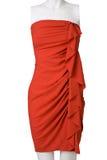 Vestido rojo corto de la mujer foto de archivo