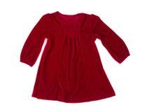 Vestido rojo del bebé Foto de archivo libre de regalías