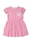 Vestido rosado del bebé aislado en blanco Imágenes de archivo libres de regalías