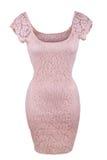 Vestido rosado del cordón Imagenes de archivo
