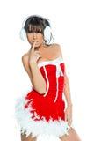 Vestido 'sexy' de Santa da mulher Fotografia de Stock