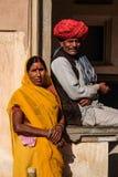 Vestido tradicional de Jaipur Foto de archivo libre de regalías