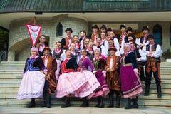 Vestido tradicional polaco Foto de archivo libre de regalías