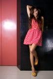 Vestido vermelho Fotos de Stock