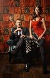 Vestido vermelho fotografia de stock royalty free
