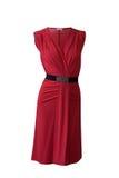 Vestido vermelho roxo Fotografia de Stock