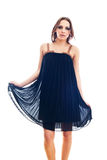 Vestido vestindo da menina Imagens de Stock Royalty Free