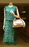 Vestido y bolso del verano de las señoras Imágenes de archivo libres de regalías