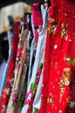 Vestidos coloridos e vibrantes Fotos de Stock Royalty Free