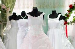Vestidos de boda Fotografía de archivo