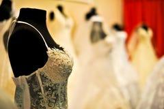 Vestidos de casamento Imagens de Stock Royalty Free