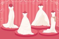 Vestidos de casamento Imagem de Stock Royalty Free