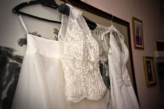 Vestidos de casamento fotografia de stock royalty free