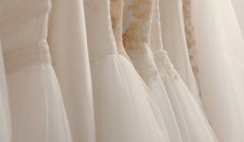 Vestidos de casamento imagem de stock