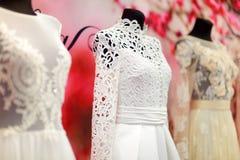 Vestidos de casamento no manequins Foto de Stock Royalty Free