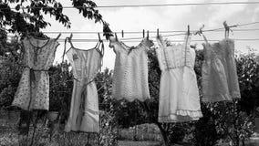 Vestidos de mi niñez foto de archivo libre de regalías