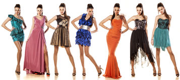 Vestidos de una mujer-siete imagen de archivo