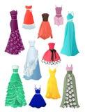 Vestidos del baile de fin de curso stock de ilustración