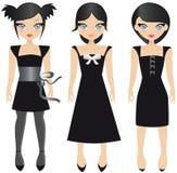 Vestidos do preto Foto de Stock Royalty Free