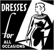 Vestidos para todas as ocasiões ilustração royalty free