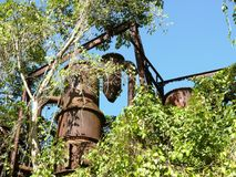 Vestige of a former still of a sugar factory in the West Indies. Still of a former abandoned sugar factory. In the French West Indies Royalty Free Stock Photos