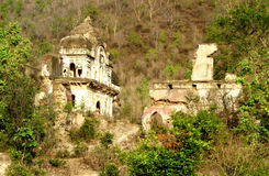 Vestige of old castle of Pathrigarh, Satna, MP, India. Ruined ancient castle of pathrigarh state, located foothills of vindhya mountain range in the middle of Stock Photo