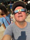 Vestindo os vidros especiais Foto de Stock