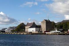 Vesting Bergenhus bergen noorwegen Royalty-vrije Stock Fotografie