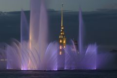 Vesting en fontein Royalty-vrije Stock Afbeelding