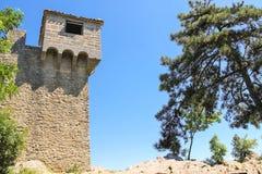 Vesting Guaita op Ondersteltitaan De Republiek van San Marino Stock Afbeeldingen