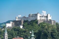 Vesting Hohensalzburg, Salzburg, Oostenrijk Stock Afbeelding