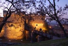 Vesting Kalemegdan, Beldrad, Servië royalty-vrije stock foto