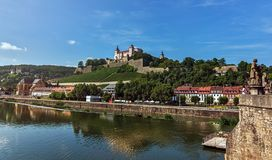 Vesting Marienberg - Wurzburg - Duitsland Royalty-vrije Stock Afbeeldingen