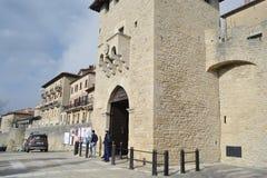 Vesting op een klip in San Marino Stock Foto's