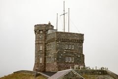 Vesting op Signaalheuvel, St John, Newfoundland, Canada Stock Foto