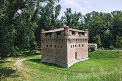 Vesting Rocca Stellata. Bondeno. Emilia-Romagna. stock foto's