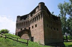 Vesting Rocca Stellata. Bondeno. Emilia-Romagna. stock afbeelding
