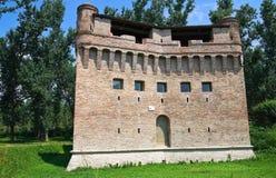 Vesting Rocca Stellata. Bondeno. Emilia-Romagna. Italië. Stock Afbeelding