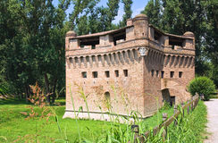 Vesting Rocca Stellata. Bondeno. Emilia-Romagna. Italië. Royalty-vrije Stock Foto's