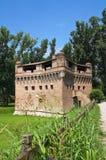 Vesting Rocca Stellata. Bondeno. Emilia-Romagna. Italië. stock fotografie