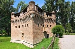 Vesting Rocca Stellata. Bondeno. Emilia-Romagna. Italië. Stock Foto's