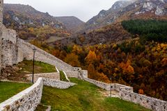 Vesting in Travnik Bosnië-Herzegovina stock foto's