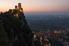 Vesting van Guaita - zet Titano op - San Marino Royalty-vrije Stock Foto