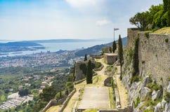 Vesting van Klis buiten stad van Spleet in Dalmatië Kroatië Stock Afbeelding