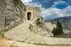 Vesting van Klis buiten stad van Spleet in Dalmatië Kroatië Royalty-vrije Stock Afbeelding