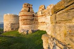 Vesting van oude stad Nessebar, Bulgarije stock afbeelding