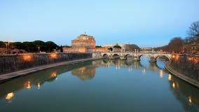 Vesting van San Angelo, Rome, Italië Timelapse 4 stock video