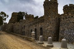 Vestingen en kastelen van de kust van Cartagena stock foto